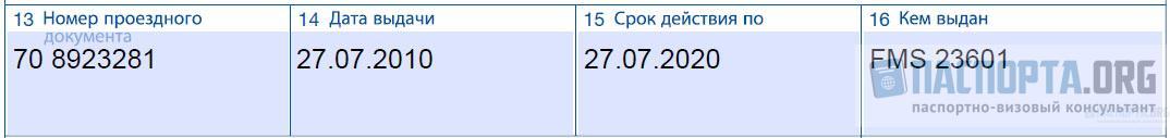 Образец заполнения анкеты на шенгенскую визу - Шаг 13, 14, 15, 16